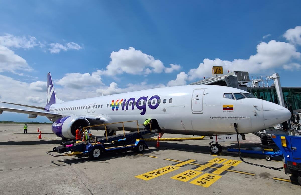 Wingo aumenta vuelos internacionales desde Colombia para fin de año