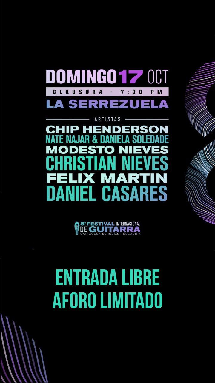 Hoy concierto de clausura Festiguitarras en La Serrezuela